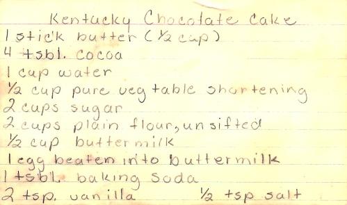 Kentucky Chocolate Cake 1