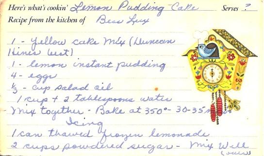 Lemon Pudding Cake 1