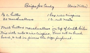 Recipe For Candy