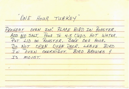 One Hour Turkey