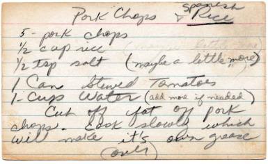 Pork Chops and Spanish Rice